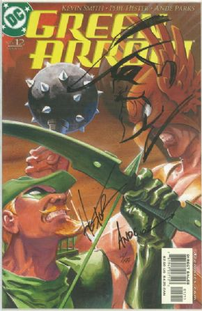 Green Arrow #12 Dynamic Forces DF Signed Ande Parks & Phil Hester Remarked COA #11 Ltd 199 TV Series DC comic book
